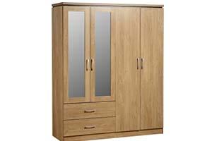 4 Door Wardrobe Charles - £349