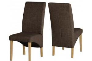 G1 Fabric Chair Dark/Light Brown - £69