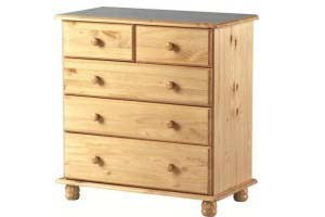 SOL pine 3+2 Chest - £99