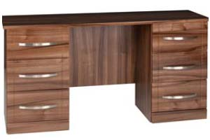 Torino Gloss Walnut Double Dresser - £349